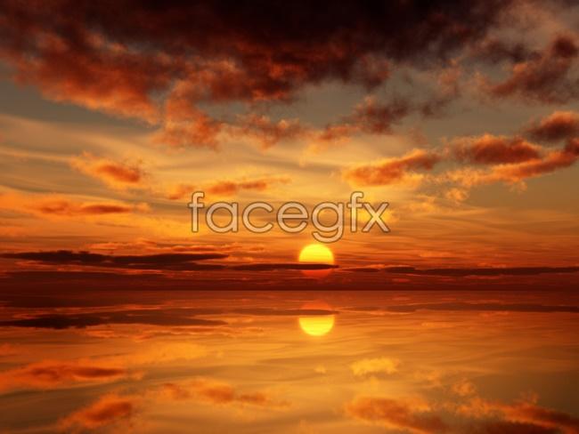 Beautiful sunset pho