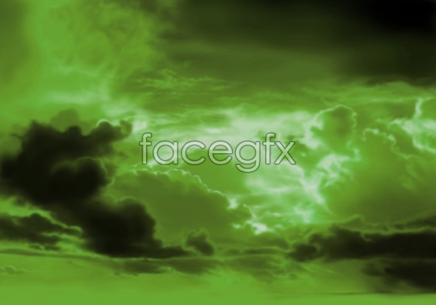Clouds HD green picture