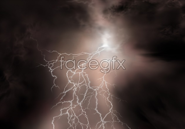HD cloud lightning pictures