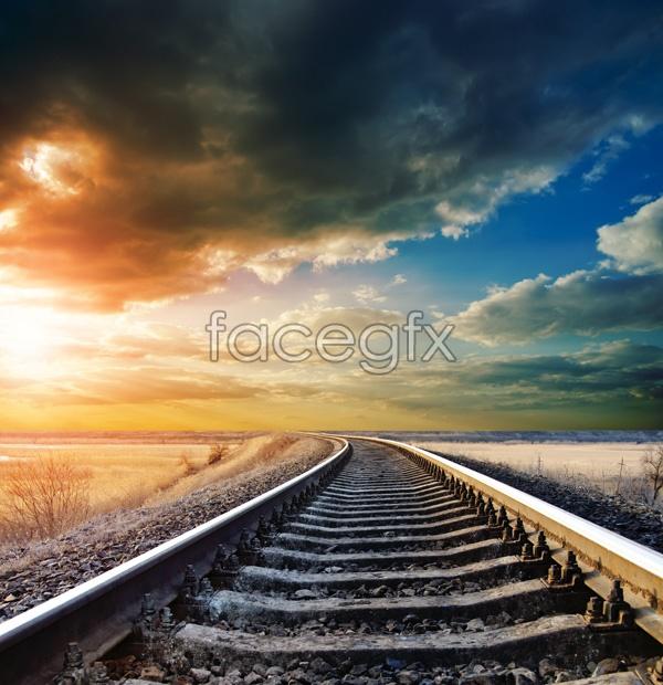 HD railway landscape picture
