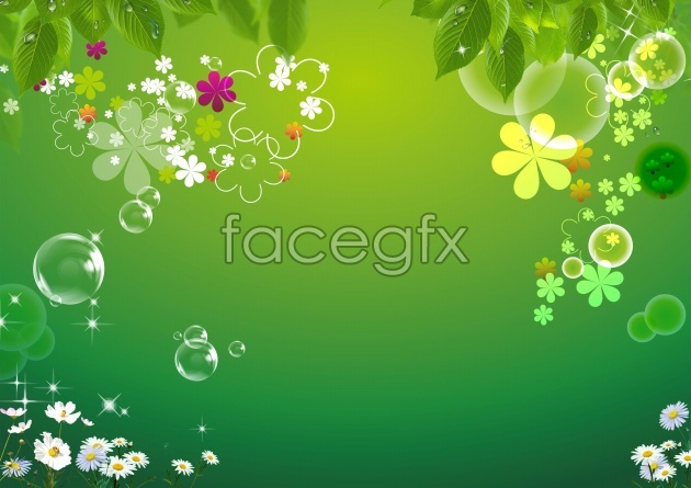 HD four-leaf clover background pictures