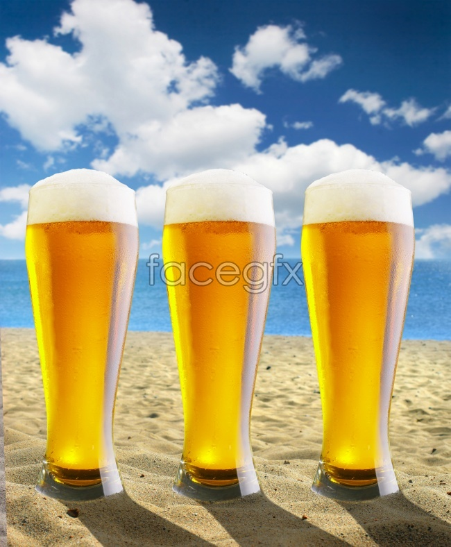 Beach beer picture