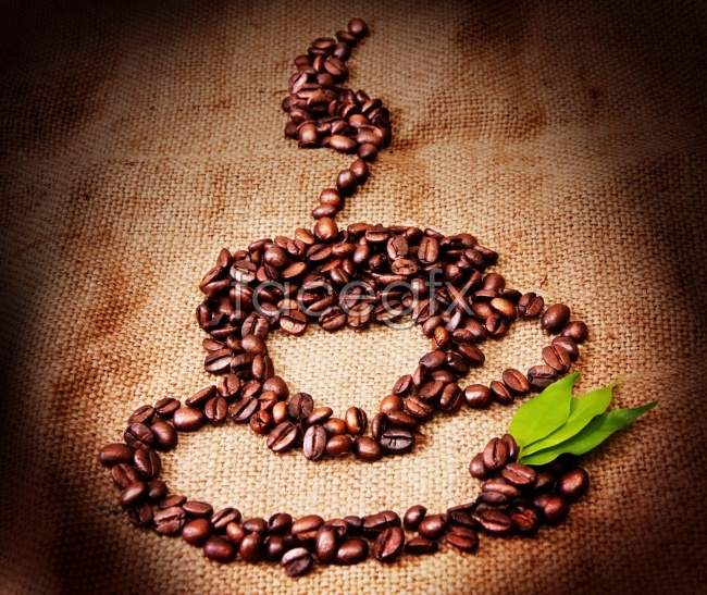 Creative coffee beans picture