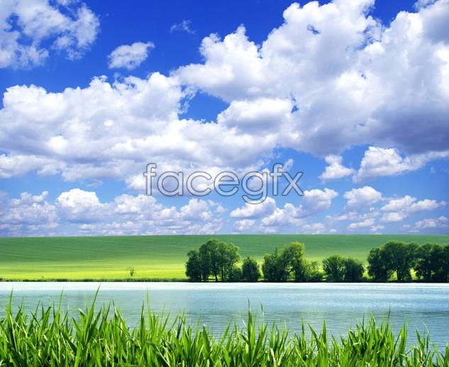 Prairie River landscape picture
