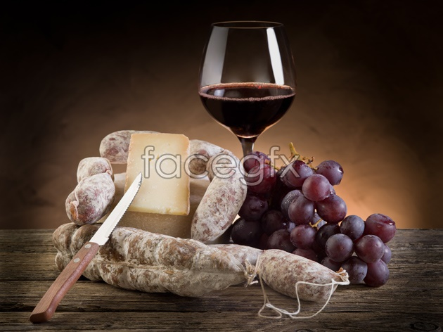 HD red wine dessert pictures