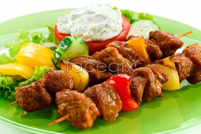 Kebab cuisine delicious HD picture