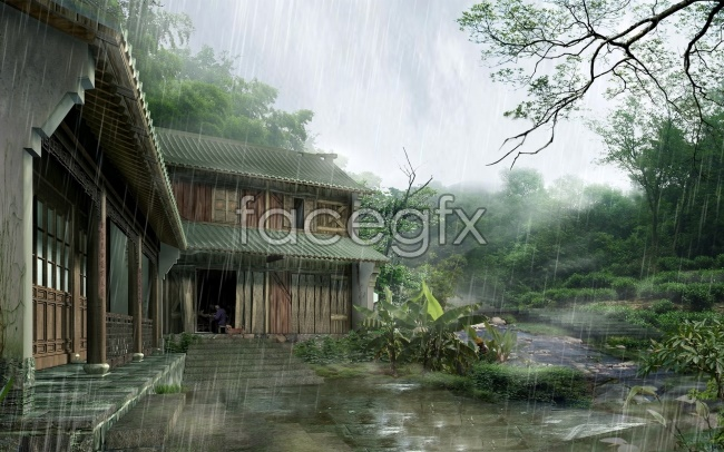 Ching Ming rain pictures