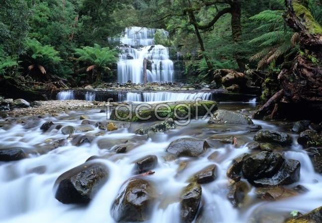 Landscape waterfall landscape picture