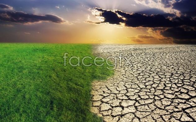 Arid land landscape picture