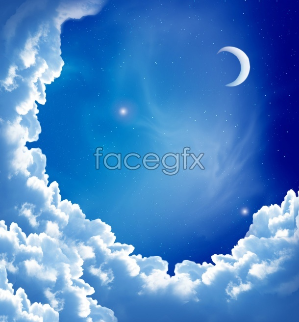 Night sky background picture