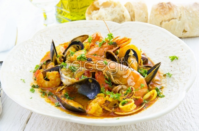 Seafood shrimp picture material