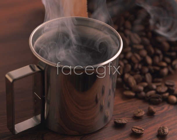 HD coffee picture material