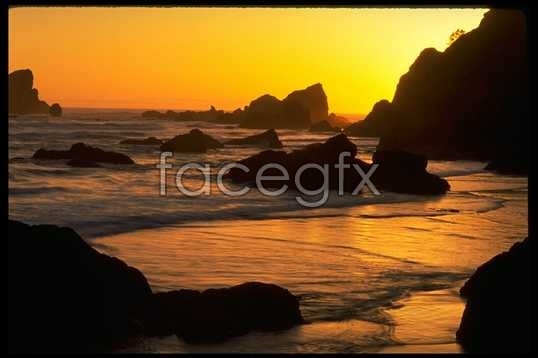 Beach Sunset HD pictures