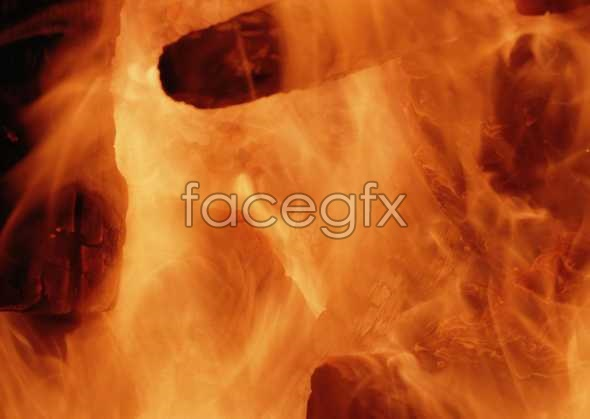 Flame material picture