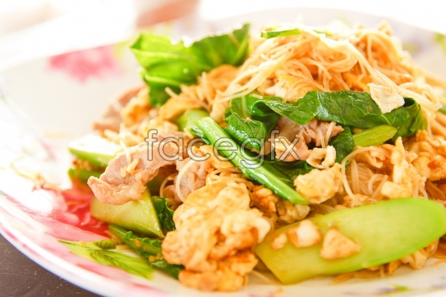 Fried noodles with HD picture
