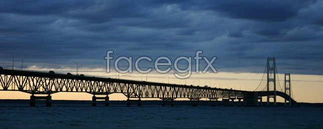 Sea Bridge desktop wallpaper