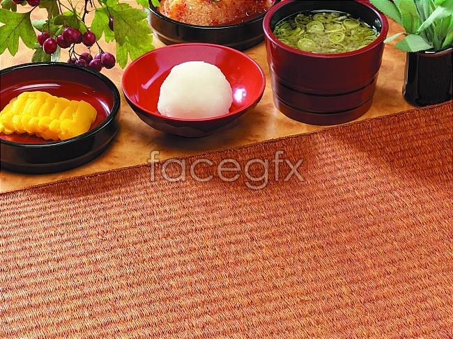 Japanese food picture material