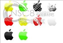 Seven color Apple logos