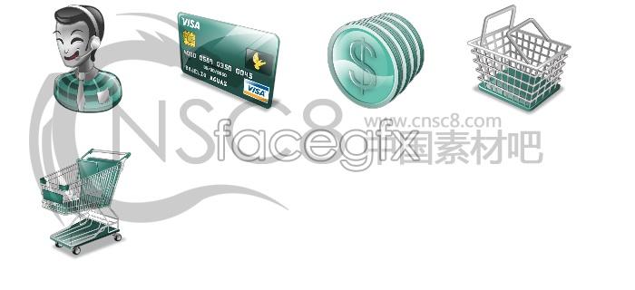 Green shopping site icon
