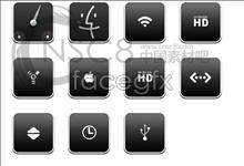 Black Apple desktop icons