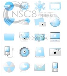 Blue Apple desktop icons