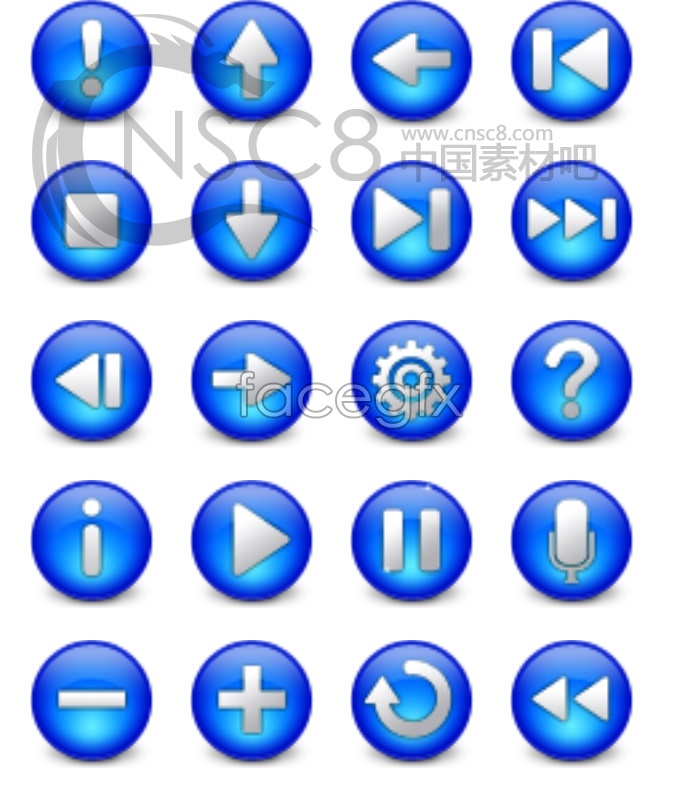 Web Crystal button icons