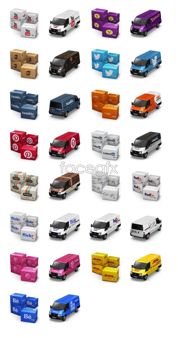 Lorry and container icons