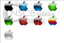 Crystal Apple logo icons