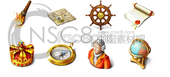 Gold pirate computer icons