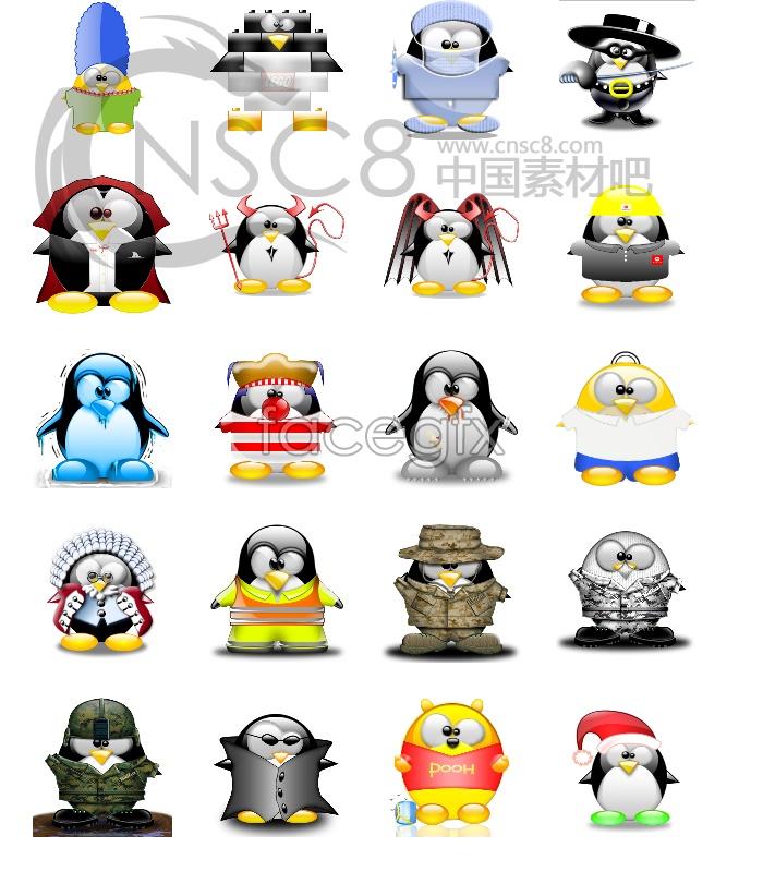 QQ portrait desktop icons