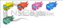 Cartoon bus icons