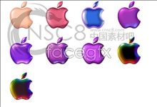 Color Apple desktop icons