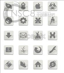 Grey Apple desktop icons