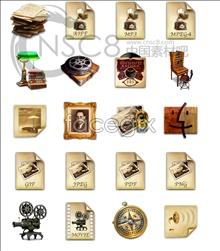 Retro vintage style icons MAC