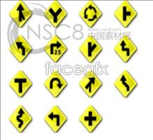 Traffic sign desktop icons