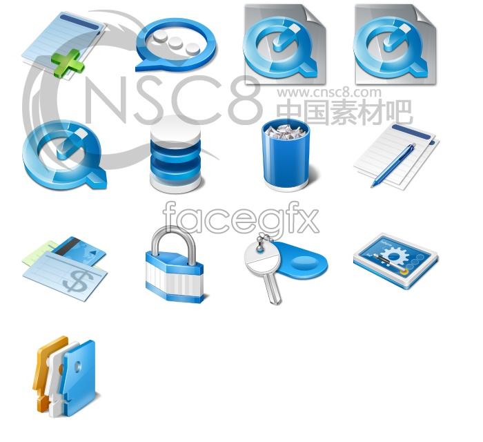 E-business desktop icons
