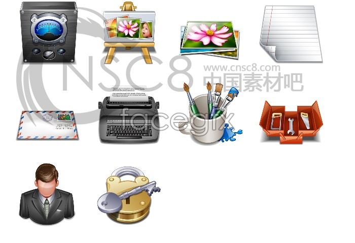Painting tools computer icons