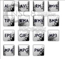 Apple pattern desktop icons