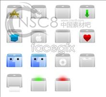 Gray Apple icon