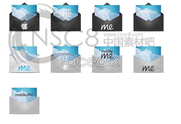 Apple Mail desktop icons