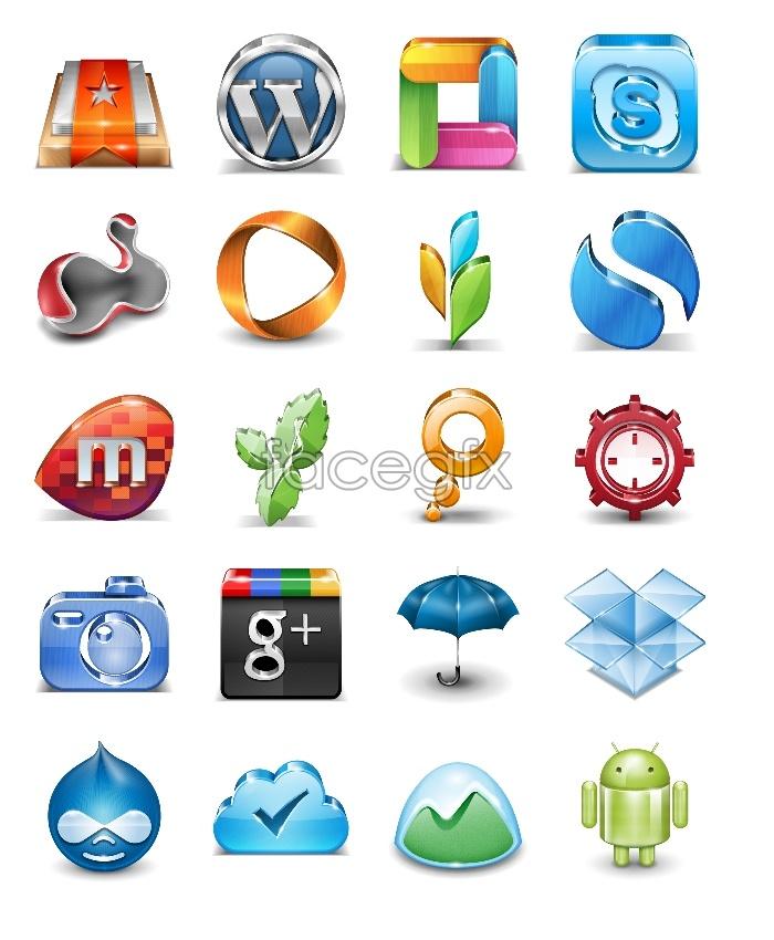 Popular application icons