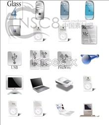 Apple series of metal icons