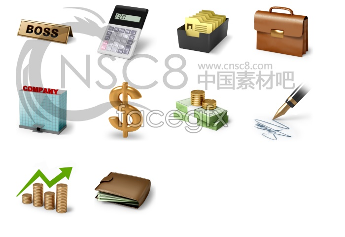 Business Finance Desktop icons