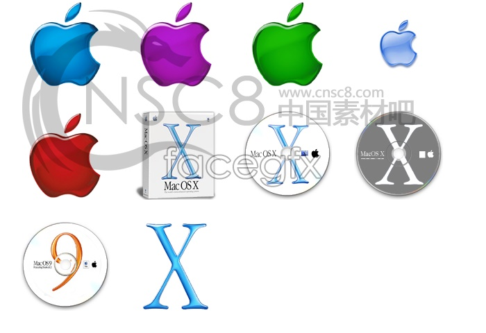 Crystal Apple series icons
