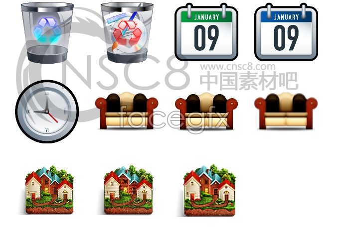 Home facilities desktop icons