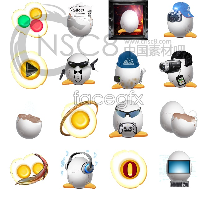 Shell desktop icons
