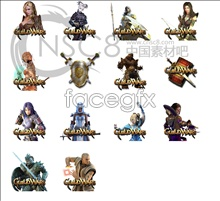 Guild Wars online game icons