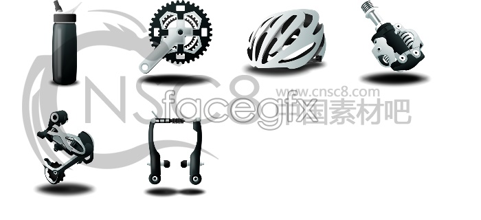 Bicycle parts icon