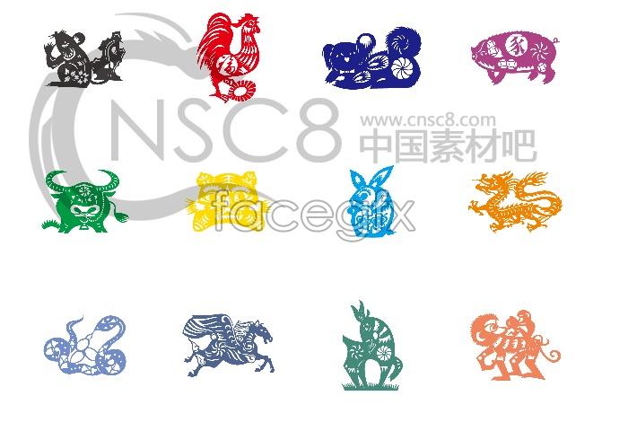 Cute Chinese zodiac desktop icons
