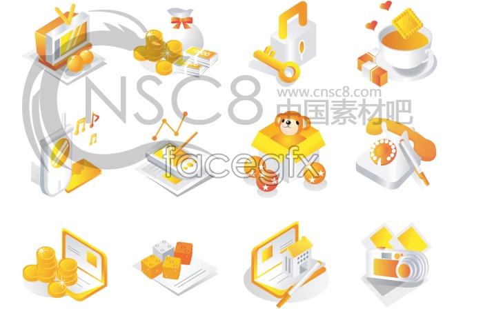 Financial business desktop icons